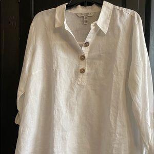 Ellen Tracy linen blouse